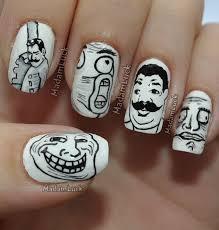 Nail Art Meme - meme faces nail art by madamluck on deviantart fun stuff