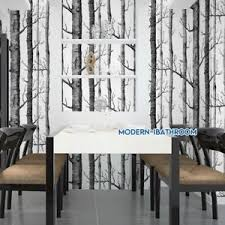 modern birch tree wallpaper non woven forest trunk wall paper