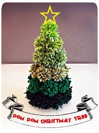 pom pom christmas tree diy craft workshop ideas pinterest