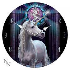 unicorn fantasy wall clock by anne stokes