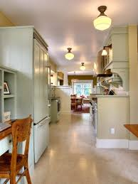 open galley kitchen with island commercial faucets narrow remodel