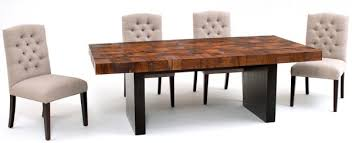 wood block dining table modern dining table contemporary rustic dining table custom dining