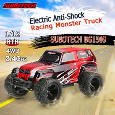 racing monster truck red eu original subotech bg1509 1 12 rc car 2 4g 2ch 4wd high