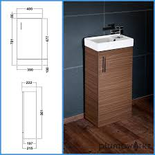 Modern Walnut Bathroom Vanity by Compact Bathroom Vanity Unit U0026 Basin Sink Vanity 400mm Floor