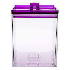 stackable kitchen canister for sale clear u0026 grape 1 6qt zak