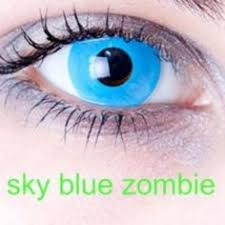 angelic blue blue wolf halloween contact lenses 28 00