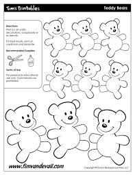 teddy bear templates tim u0027s printables
