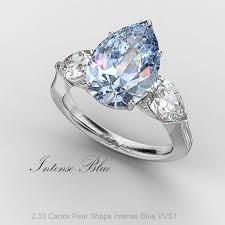 blue diamond wedding rings fancy blue diamond ring by bez ambar