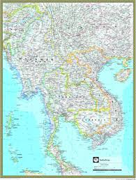 National Geographic Map Indochina Atlas Wall Map Maps Com