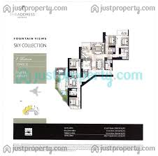 address fountain views 3 sky collection floor plans justproperty com