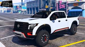 nissan titan 2018 nissan titan warrior 2017 new enb top speed test gta mod youtube