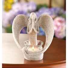 Angel Wings Home Decor by Wholesale Angel Candle Holder Stone Finish Praying Angel Heart