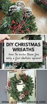 quick and easy diy christmas wreath make them for super cheap