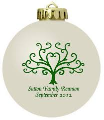Blank Ornaments To Personalize Personalized Christmas Ornament Family Reunion Favors Family