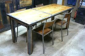 fabriquer une table haute de cuisine fabriquer table exterieur affordable table manger en palette et mtal