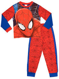 spirit halloween spiderman spider man boys spiderman pyjamas full face ages 2 to 10 years