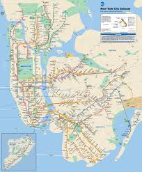 New York City Street Map by Map Of Nyc Subway Tube Underground Stations U0026 Lines