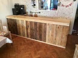 diy pallet l shape desk counter and bar table