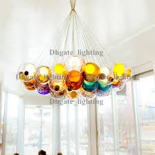 Modern Chandeliers Sydney Discount Diameter 15cm Color Glass Ball Pendant Lights Chandelier