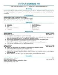 Resume Of A Registered Nurse Download Registered Nurse Resume Haadyaooverbayresort Com