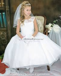 communion dresses floral lace bodice designer communion dress designer