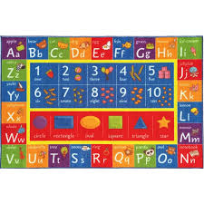 Alphabet Area Rug Kc Cubs Playtime Collection Abc Alphabet Numbers And Shapes