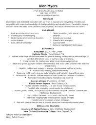 browse resume for babysitter best babysitter resume example