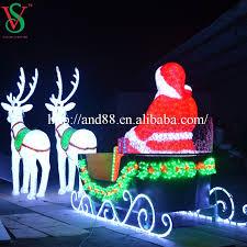 outdoor motif acrylic reindeer sleigh light buy outdoor motif