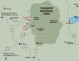 Map San Francisco To Yosemite National Park by Rush Creek Lodge Location Rush Creek Lodge