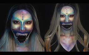 deep sea mermaid halloween makeup tutorial youtube