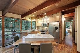 cuisine salle a manger ouverte cuisine cuisine ouverte sur salle a manger avec cyan couleur