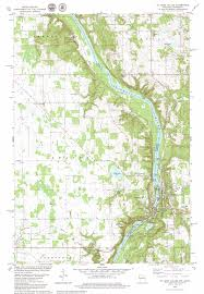 Map Of Wisconsin And Minnesota by Saint Croix Dalles Topographic Map Mn Wi Usgs Topo Quad 45092d6
