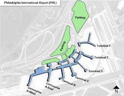 philadelphia international airport map philadelphia phl airport terminal map