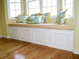 Kitchen Storage Bench Seat Plans by Bay Window Seat Cushion With Motif Others Pinterest Window