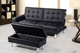Living Room Bluetooth Speakers New Contemporary Modern Knightsbridge Faux Leather Storage Ottoman