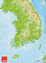 Physical Maps Physical Map Of South Korea