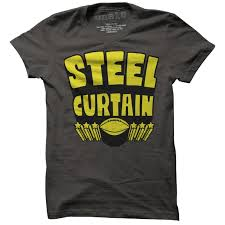 Steel Curtain Pictures Steel Curtain T Shirt Vintage Pittsburgh Steelers Tee Retro