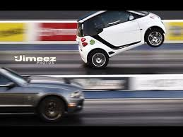 smart car kits lamborghini for sale wheelstanding blown smart car outruns mustangs