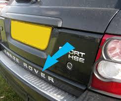 chrome range rover sport chrome rear tailgate lettering for range rover sport l320 letters