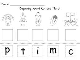 thanksgiving beginning sound sort by melanie bassili tpt