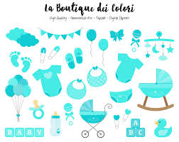 turquoise baby clipart cute graphics png scrapbook