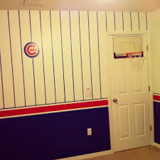 chicago cubs baseball theme with a basketball hoop bedroom boys
