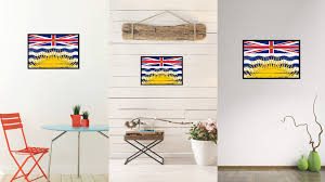 british columbia province city canada country vintage flag home british columbia province city canada country flag vintage canvas print with black picture frame home decor
