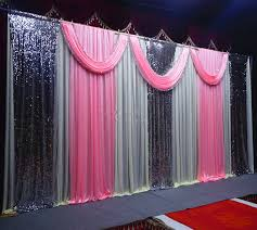 party backdrops pink paillette wedding party backdrop curtain swag drape wedding