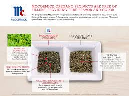 mccormick oregano products are free of fillers mccormick