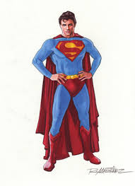 original illustration superman color drawing randy martinez art