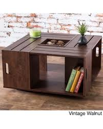 vintage square coffee table deals on furniture of america the crate square coffee brown table