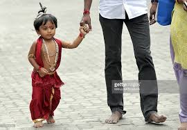 hindu l an indian toddler dressed as hindu god l pictures getty images