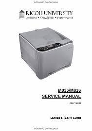 ricoh aficio sp c231n c232dn m035 m036 service manual