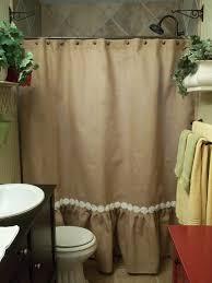 ruffle bottom burlap shower curtain window treatments ruffle bottom burlap shower curtain
